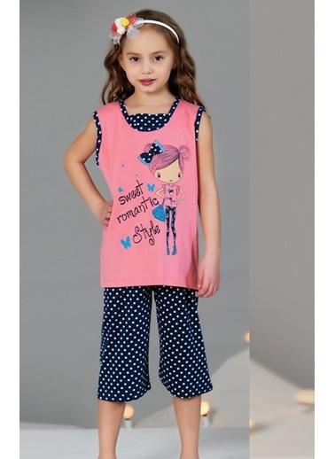 Lingabooms  Kız Çocuk Pamuklu Pijama Takım Renkli